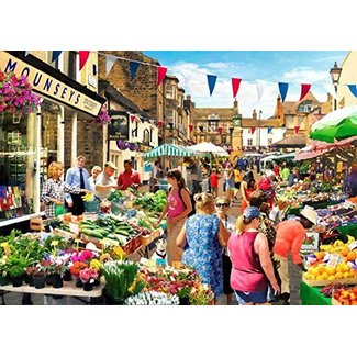 The House of Puzzles Street Market Puzzle 1000 pieces