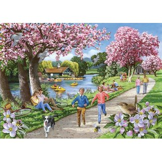 The House of Puzzles Apple Blossom Time Puzzle 500 Stück XL