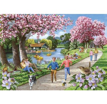 The House of Puzzles Apple Blossom Temps Puzzle 500 pièces XL