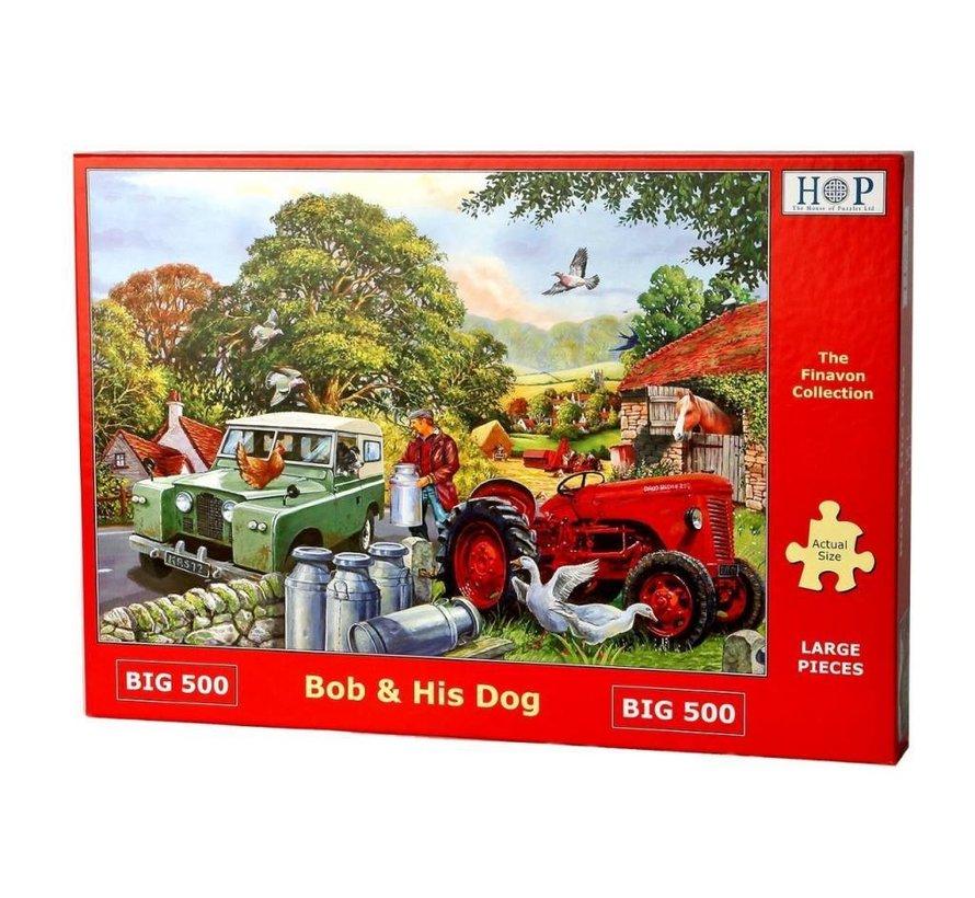 Bob et son chien Puzzle 500 pièces XL