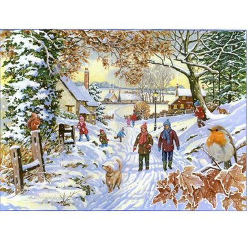 The House of Puzzles Snowy Walk puzzle pieces 500 XL