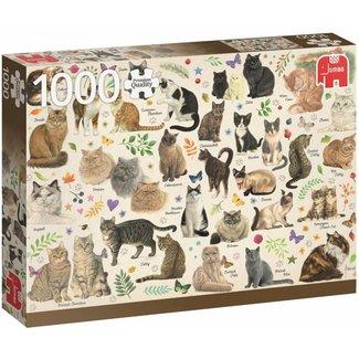 Jumbo Cats Poster Puzzle Pieces 1000 Franciens cats