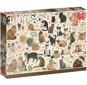 Jumbo Chats Poster Puzzle Pièces 1000 Franciens chats