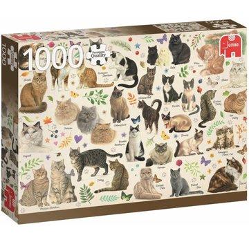 Jumbo Katzen Poster Puzzle Stück 1000 Franciens Katzen