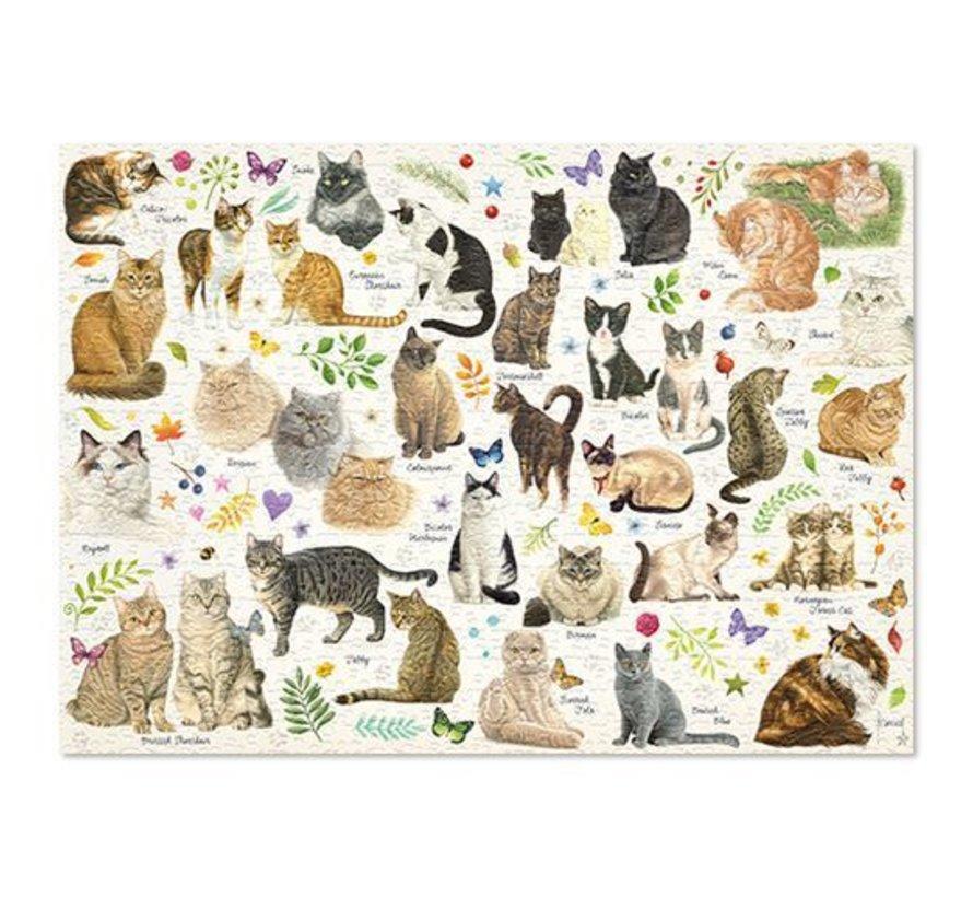 Katten Poster Puzzel 1000 Stukjes Franciens Katten