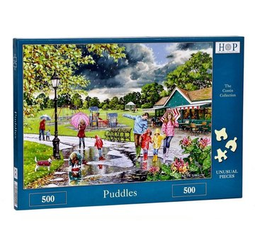 The House of Puzzles Puzzle 500 pièces Puddles