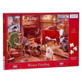 The House of Puzzles Winterfütterung Puzzle 500 Stück