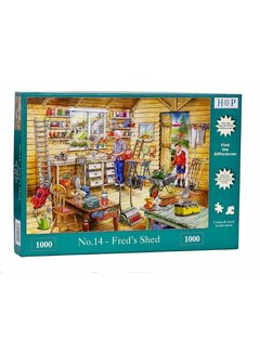 The House of Puzzles No.14 - Fred's Shed Puzzel 1000 Stukjes