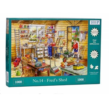 The House of Puzzles No.14 - Shed Fred 1000 Pièces Puzzle