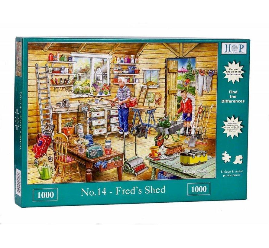 No.14 - Fred's Shed Puzzel 1000 Stukjes