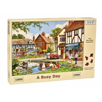 The House of Puzzles Ein Beschäftigter Tag Puzzle 1000 Stück