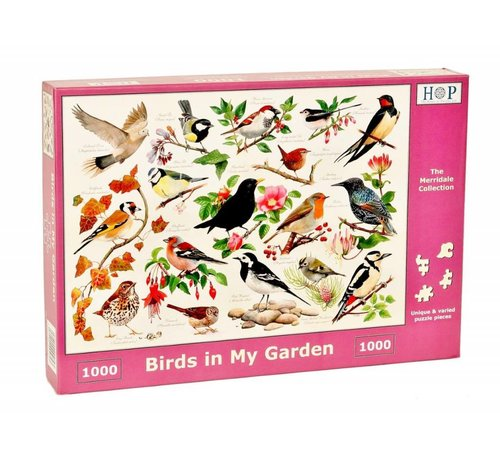 The House of Puzzles Birds in My Garden Puzzel 1000 stukjes