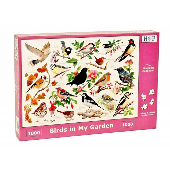 The House of Puzzles Birds in My Garden Puzzel 1000 stukjes