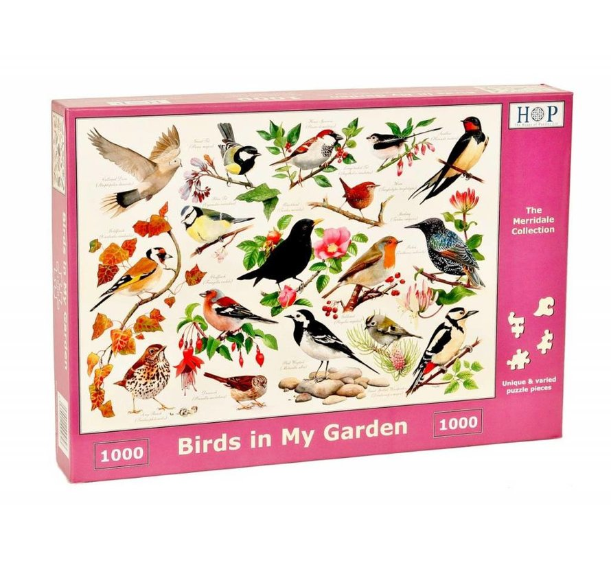 Birds in My Garden Puzzel 1000 stukjes