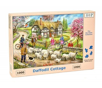 The House of Puzzles Daffodil Cottage Puzzle 1000 Stück