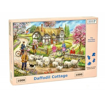The House of Puzzles Daffodil Cottage Puzzel 1000 stukjes
