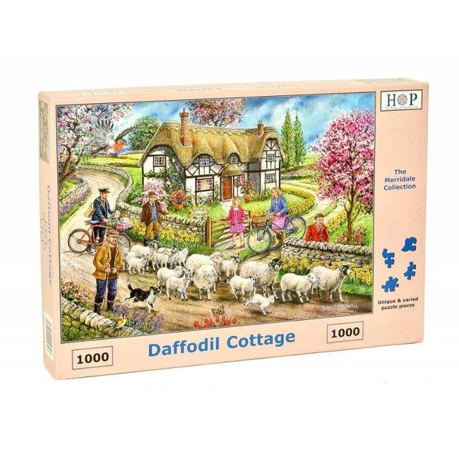 The House of Puzzles Daffodil Cottage Puzzel 1000 stukjes