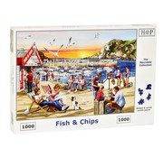 The House of Puzzles Fish and Chips Puzzel 1000 stukjes