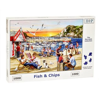 The House of Puzzles Fish and Chips Puzzle 1000 pieces