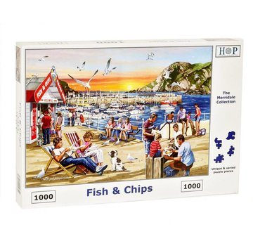 The House of Puzzles Puzzle Fish and Chips 1000 Stück