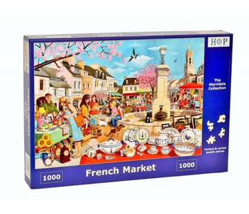 The House of Puzzles French Market Puzzel 1000 stukjes