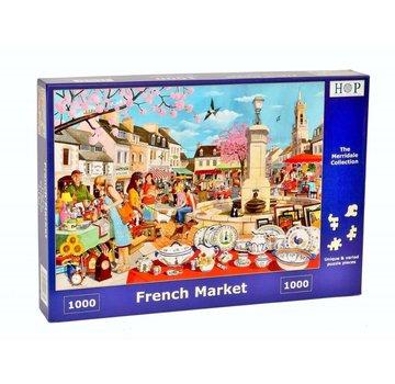 The House of Puzzles Français Puzzle de marché 1000 pièces