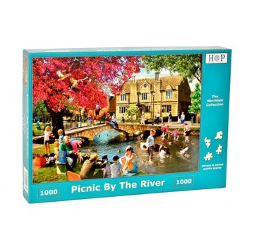 The House of Puzzles Picknick durch den Fluss Puzzle 1000 Stück