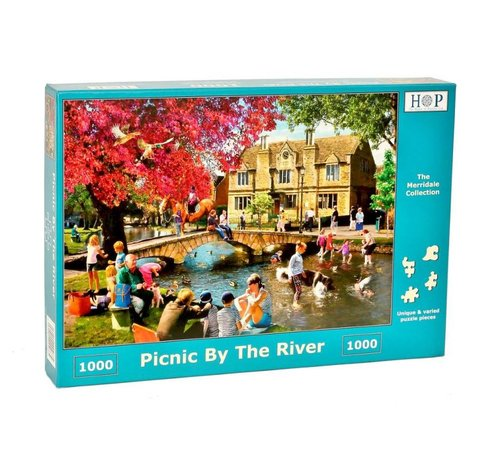 The House of Puzzles Picnic by the River Puzzel 1000 stukjes