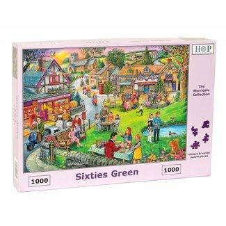 The House of Puzzles Sixties Green Puzzel 1000 stukjes