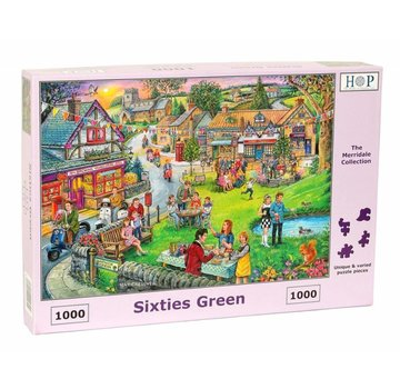 The House of Puzzles Sixties vert Puzzle 1000 pièces