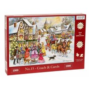 The House of Puzzles No.15 - Coach and Carols 1000 Puzzle Pieces
