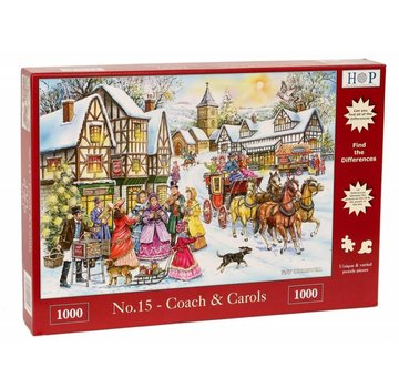 The House of Puzzles No.15 - Coach and Carols Puzzel 1000 Stukjes