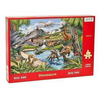 The House of Puzzles Dinosaurs Puzzel 500 XL stukjes