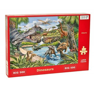 The House of Puzzles Dinosaurs Puzzel 500 XL stukjes