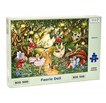 The House of Puzzles Faerie Dell Puzzel 500 XL stukjes