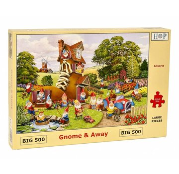 The House of Puzzles Gnome and Away Puzzel 500 XL stukjes
