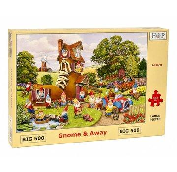 The House of Puzzles Gnome und Auswärts Puzzle 500 Stück XL