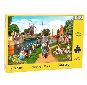 The House of Puzzles Happy Days Puzzel 500 XL stukjes