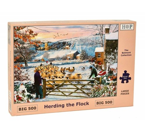 The House of Puzzles Herding the Flock Puzzel 500 XL stukjes