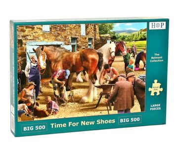 The House of Puzzles Time for new Shoes Puzzel 500 XL stukjes