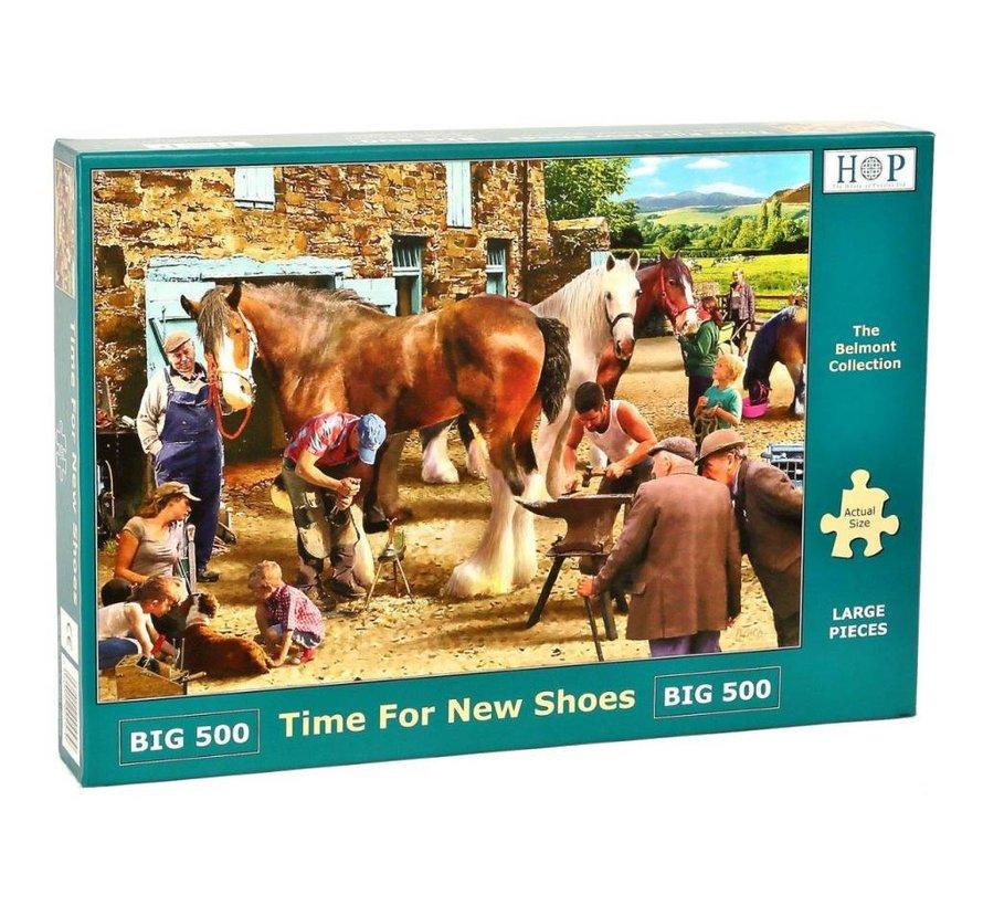 Time for new Shoes Puzzel 500 XL stukjes