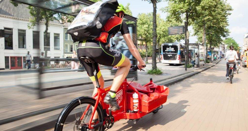 Postverzending met de fietskoeriers van Cycloon