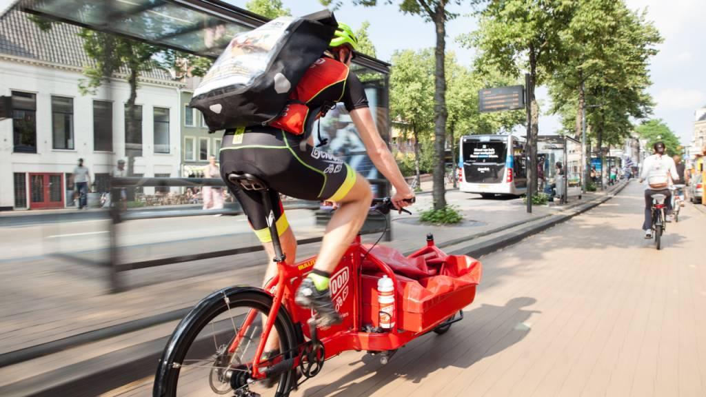 Postverzending met fietskoeriers