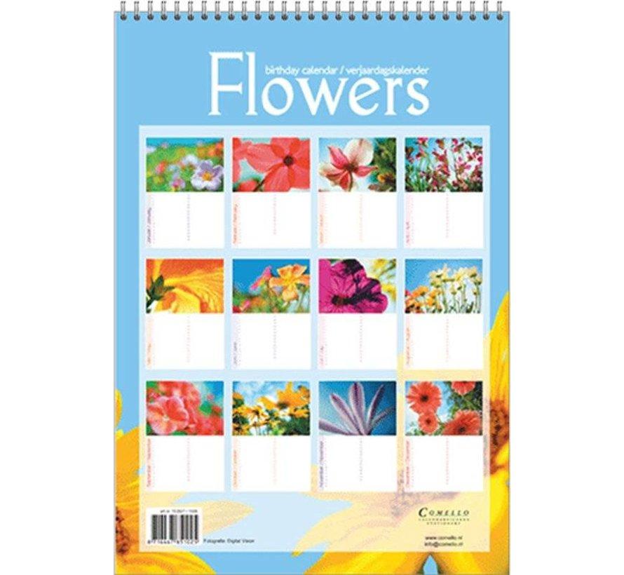 Flowers Verjaardagskalender A4