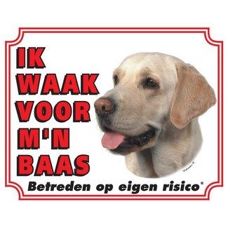 Stickerkoning Labrador Retriever Waakbord - Blond