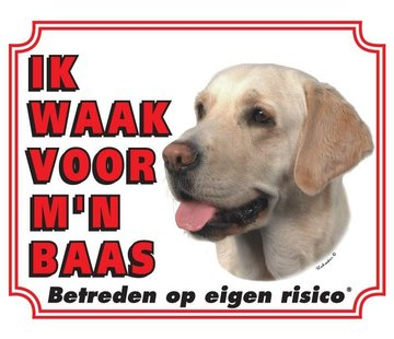 Stickerkoning Labrador Retriever Waakbord - Blond