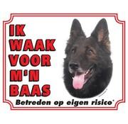 Stickerkoning Groenendaeler Wake board - I watch my boss