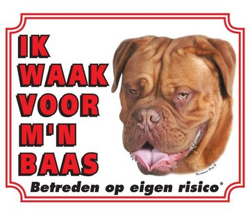 Stickerkoning Bordeaux Dog Watch Conseil - Je regarde mon patron