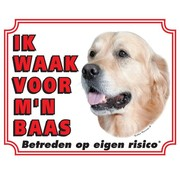 Stickerkoning Golden Retriever Wake board - I watch my boss