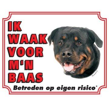Stickerkoning Rottweiler Wake board - I watch my boss